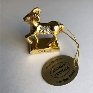 OBEH 24K Gold Plated Zodiac figurine